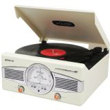 Groov-e Classic Vinyl Record Player with FM Radio & Built-in Speakers - Black GV-TT02-CM